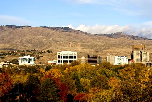 Boise Skyline in Fall