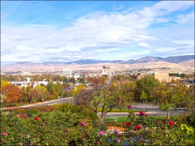 Beautiful View of Boise Homes