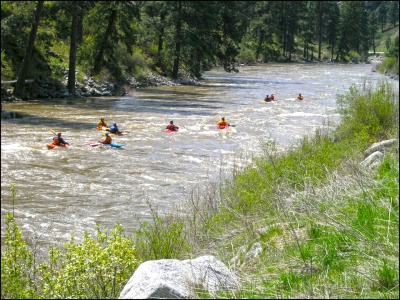 McCall Kayakers on the Payette River
