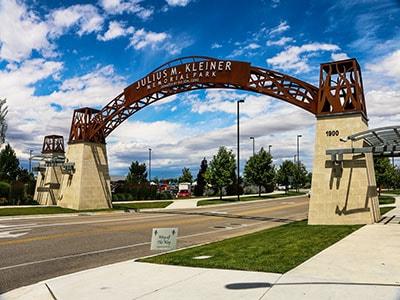 Entry to Julius M. Kleiner Park