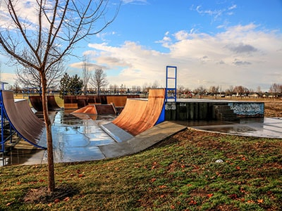 Skateboarding park in Meridian
