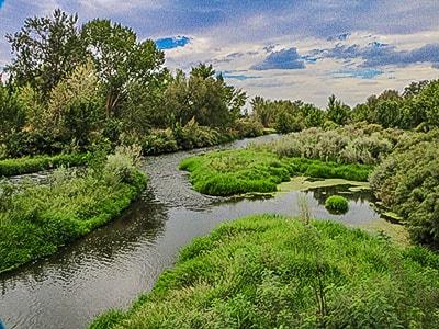 Boise river in Middleton Idaho