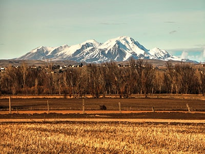 Overlooking the Treasure Valley and moutnains from Star Idaho